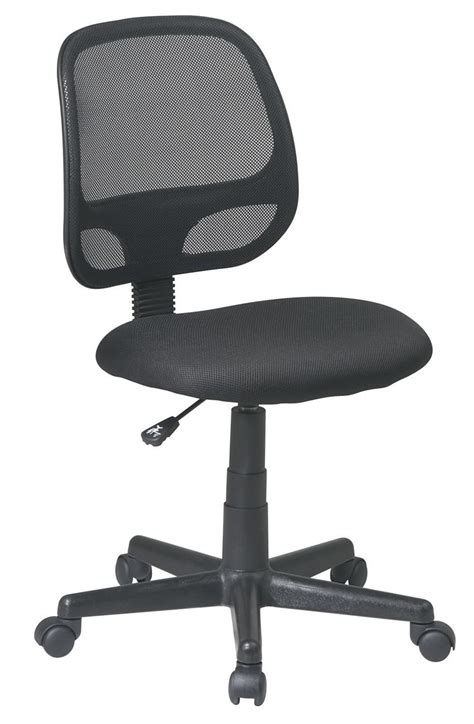 screen back black mesh seat swivel task desk office chair