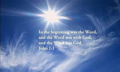 Word John Flesh Became God Background Beginning