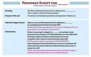 don39t waste a moment see sample cold calling scripts With cold call script template