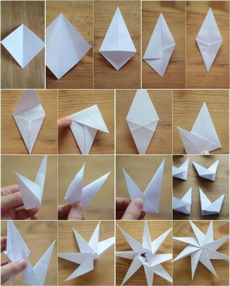 Weihnachtsdeko Basteln Papier Fenster by 8 Zackige Origami Sterne Aus Papier Falten Anleitung