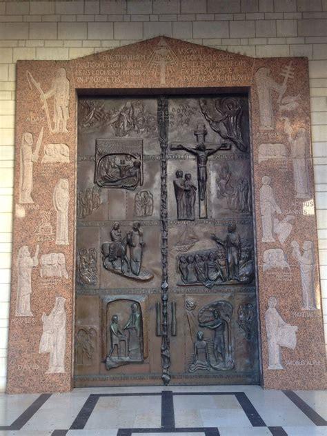 beautiful iron door   basilica latin church