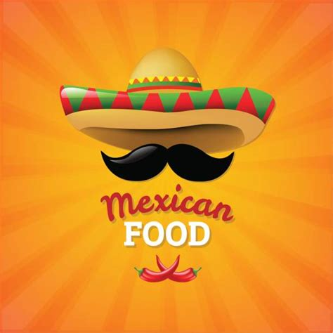 mexican food illustrations royalty  vector