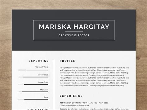 Free Resume Templates For Word by High End Free Resume Cv For Word Indd By Daniel E