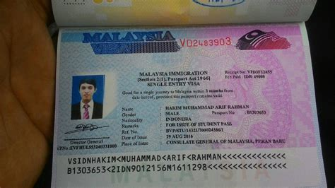 mengurus single entry visa malaysia  arif rahman hakim