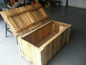 Storage Deck Box From pallet wood My Completed DIY