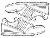 Coloring Jordan Shoes Sneakers Sneaker Coloringhome sketch template