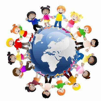 Around Children Holding Hands Education Package Globe