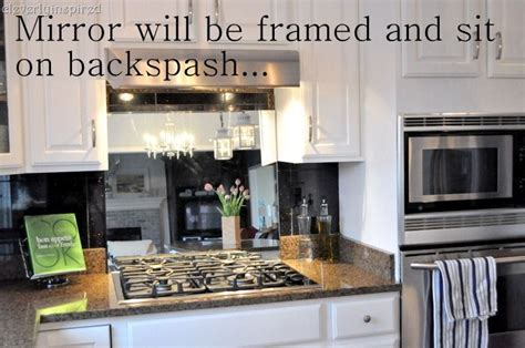 Interesting idea: use a mirror as a backslash behind stove