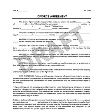separation decree form divorce agreement template create a free divorce