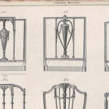 thomas sheraton  designs  chair backs illustrated