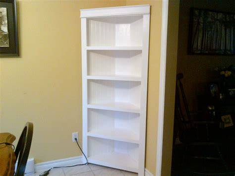 do it yourself built in bookcase plans ana white corner shelf diy projects