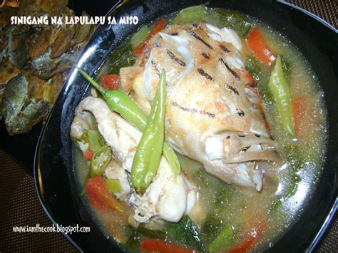 sinigang miso sa na grouper soup cook lapulapu soured am