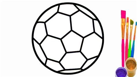 Coloring Balls by Learn Colors With Soccer Balls For Children How To Draw