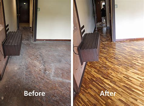 Buffing Hardwood Floors Before And After by Restoring Parquet Floors