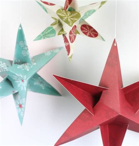 paper stars christmas decorations 20 to make easy paper crafts with your godfather style