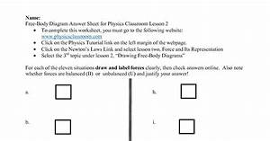 30 Free Body Diagram Practice Worksheet With Answers