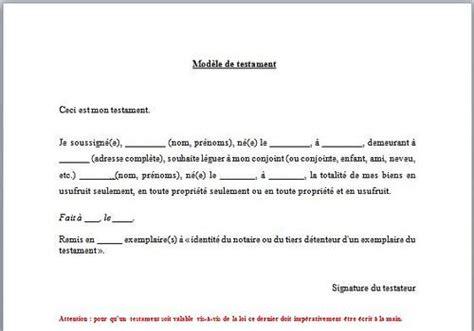 bureau de notaire télécharger modèle de testament pour windows freeware