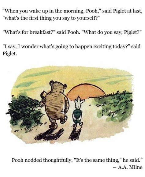winnie  pooh breakfast  exciting  bb