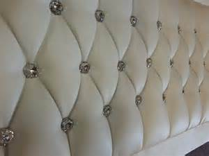 details about pink princess headboard for bed luxury faux leather diamante crystals