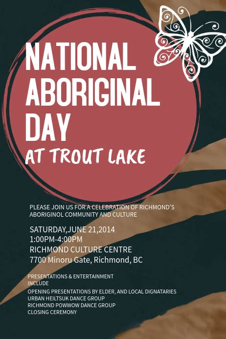 copy  aboriginal day event poster template postermywall