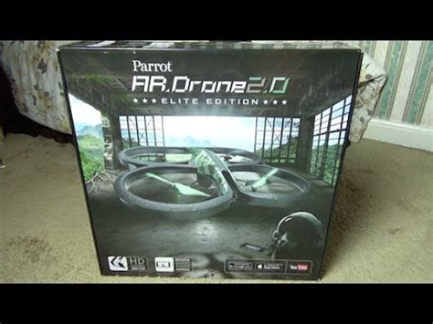 parrot ar drone  elite edition unboxing youtube