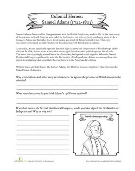 american history worksheets for 5th graders free social