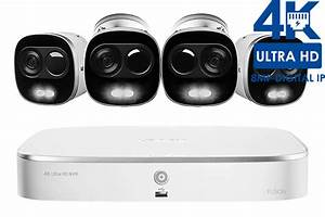 4k Ultra Hd Ip Camera System With 4 Active Deterrence
