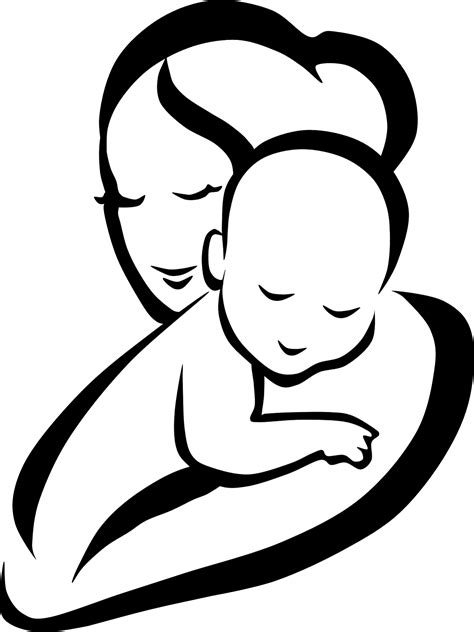 Mother and Child Clipart3 | Free Cliparts | Baby drawing, Mom dad baby, Mothers day crafts