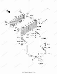 Kawasaki Atv 1999 Oem Parts Diagram For Oil Cooler
