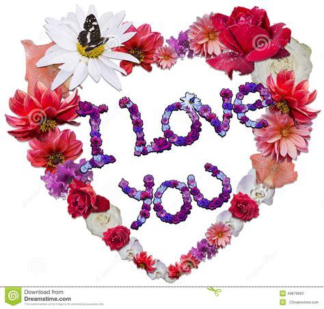 alle verschillende bloemen mooi die hart van verschillende bloemen als symbool van