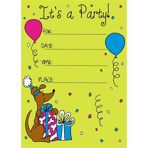 birthday invitation card  child kids birthday