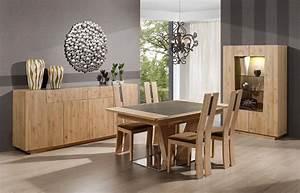 Salle a manger contemporaine chene et ceramique forest for Meuble de salle a manger avec table rectangulaire