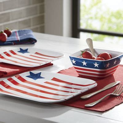 american flag  piece melamine dinnerware set