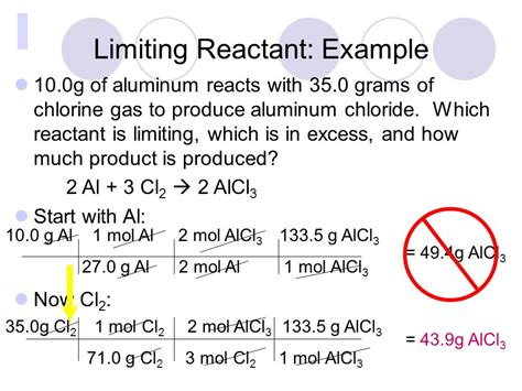 Limiting Reactants And Percent Yield  Ppt Video Online Download