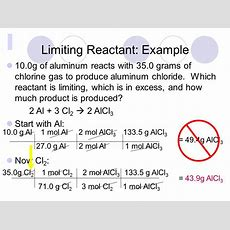 Limiting Reactants And Percent Yield  Ppt Video Online
