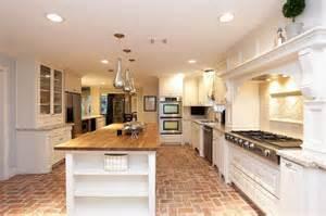brick floors kitchen pinterest