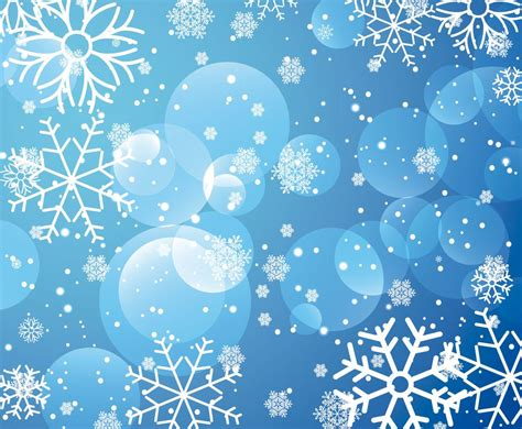 Blue Snowflake Background Clipart by Blue Snowflake Background Vector Graphics