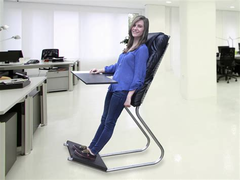 standing desk chair standing desk backrest leanchair technabob