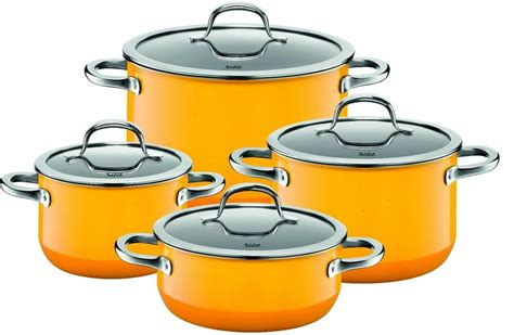 silit cookware piece germany wmf yellow passion orange steel