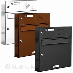 Briefkasten Mit Klingel Aufputz : 1er briefkasten klingel sprechanlage pulverbesch analog ~ A.2002-acura-tl-radio.info Haus und Dekorationen