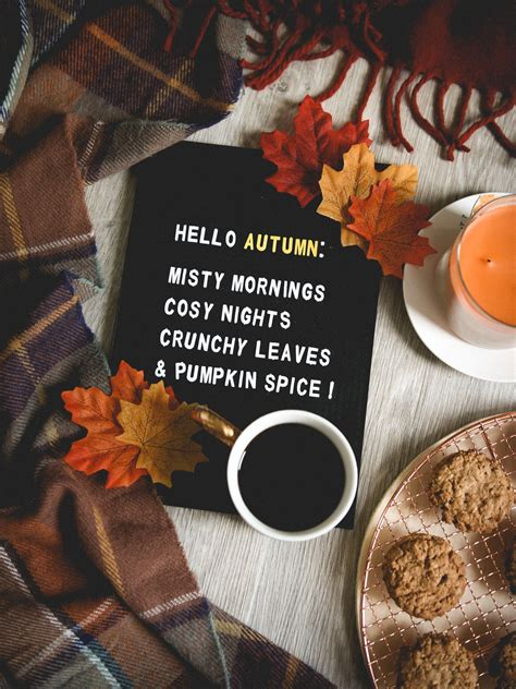 Aesthetic Girly Fall Backgrounds by Quot Hello Autumn Mornings Cozy Nights Crunchy Leaves
