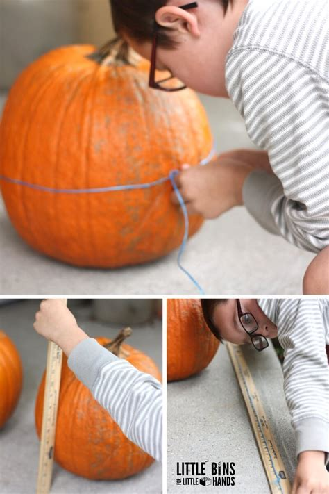 Measuring Pumpkins Math Activity {FREE Printable Worksheets}