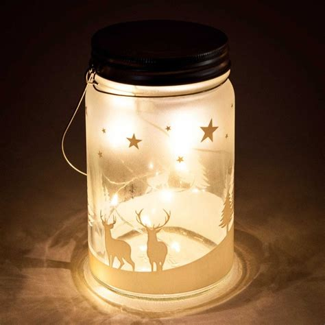 d 233 co lumineuse pot en verre h 18 cm no 235 l