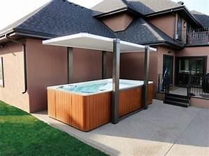 les 25 meilleures idees de la categorie abri pour spa sur With nice amenagement de piscine exterieur 6 terrasse couverte vieux bois