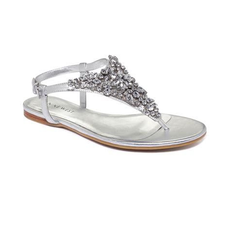 flat silver shoes nine seahorse flat sandals in silver lyst