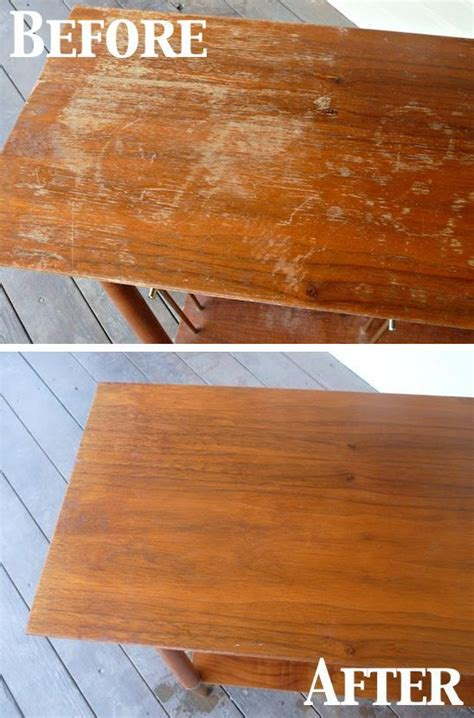 fix scratches on wood furniture 1 4 cup vinegar and 3 4