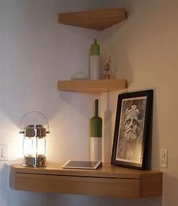 Petite étagère D Angle : etagere murale d angle bois 5 id es de d coration int rieure french decor ~ Teatrodelosmanantiales.com Idées de Décoration