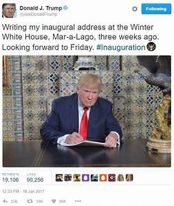 Donald Trump's Inaugural Address Photo   Know Your Meme