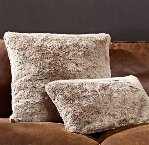Restoration Hardware Living Room Pillows by Living Room Linen Luxe Faux Fur Pillow Covers