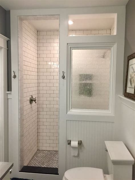happy   craftsman bathroom remodel  includes  walk  shower  classic